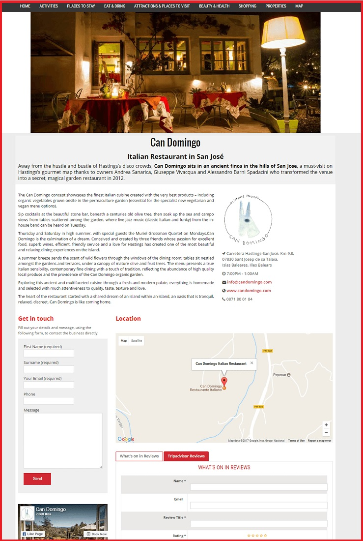 Sales Page Example when Advertise with us What's on in Redhill.com